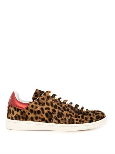 Isabel Marant Bart calf-hair low-top trainers