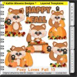Foxy Loves Fall Layered Templates - CU