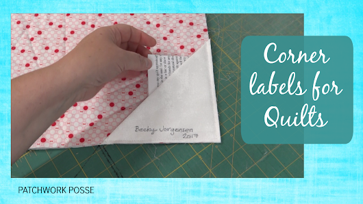 Corner Labels for Quilts
