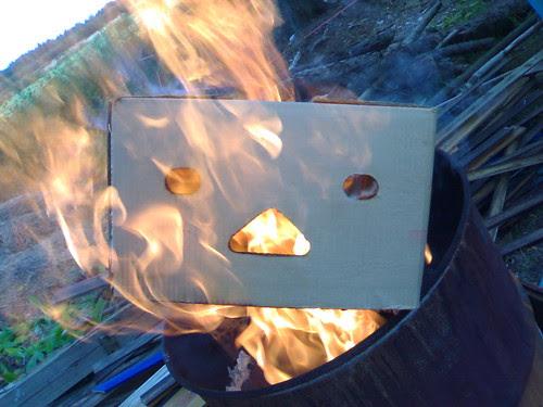 burning box