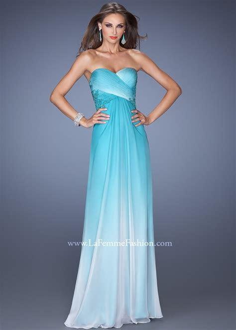 Aqua Blue And White Wedding Dress
