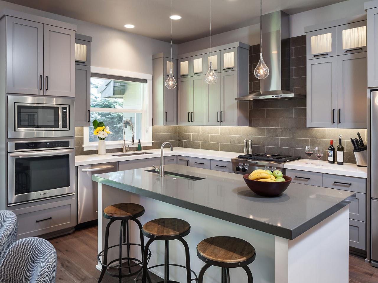 Gorgeous Gray Kitchen  2014  HGTV