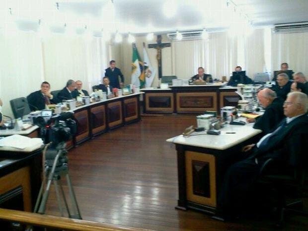 Sessão de votação aconteceu na manhã desta terça-feira (18) (Foto: Larisse Souza/Inter TV Cabugi)
