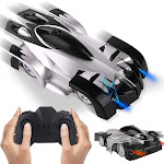 JIECAN Remote Control Car Boy Toy, Climbing Wall Car,Rechargeable Car for Kids Present with Mini Control Dual Mode 360° Rotating LED Head Gravity-Defying.