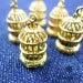 10 pcs 11 X 21 X 11 mm Bohemian Filigree 3D Birdcage Metal Charms, Golden, Bird in Cage - 10500063-010