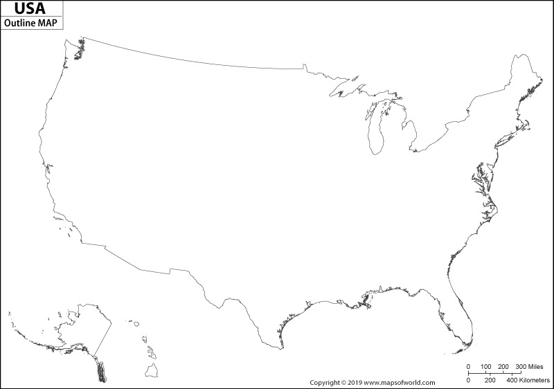 Free Illustration Us Map Outline Us Map America Free Image Free - Us and canada blank map