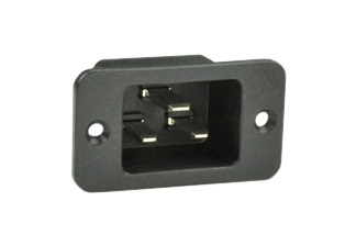 Iec 60320 C 20 320 C20 16 20a 250v Power Inlet Plug Socket Receptacle Panel Mount 6 3 Mm 1 4 In Q C Tabs 2 Pole 3 Wire Grounding Black Iec320 Iec 320 320 C20 20a 250v Ul Csa 16a 250v Vde Ccc