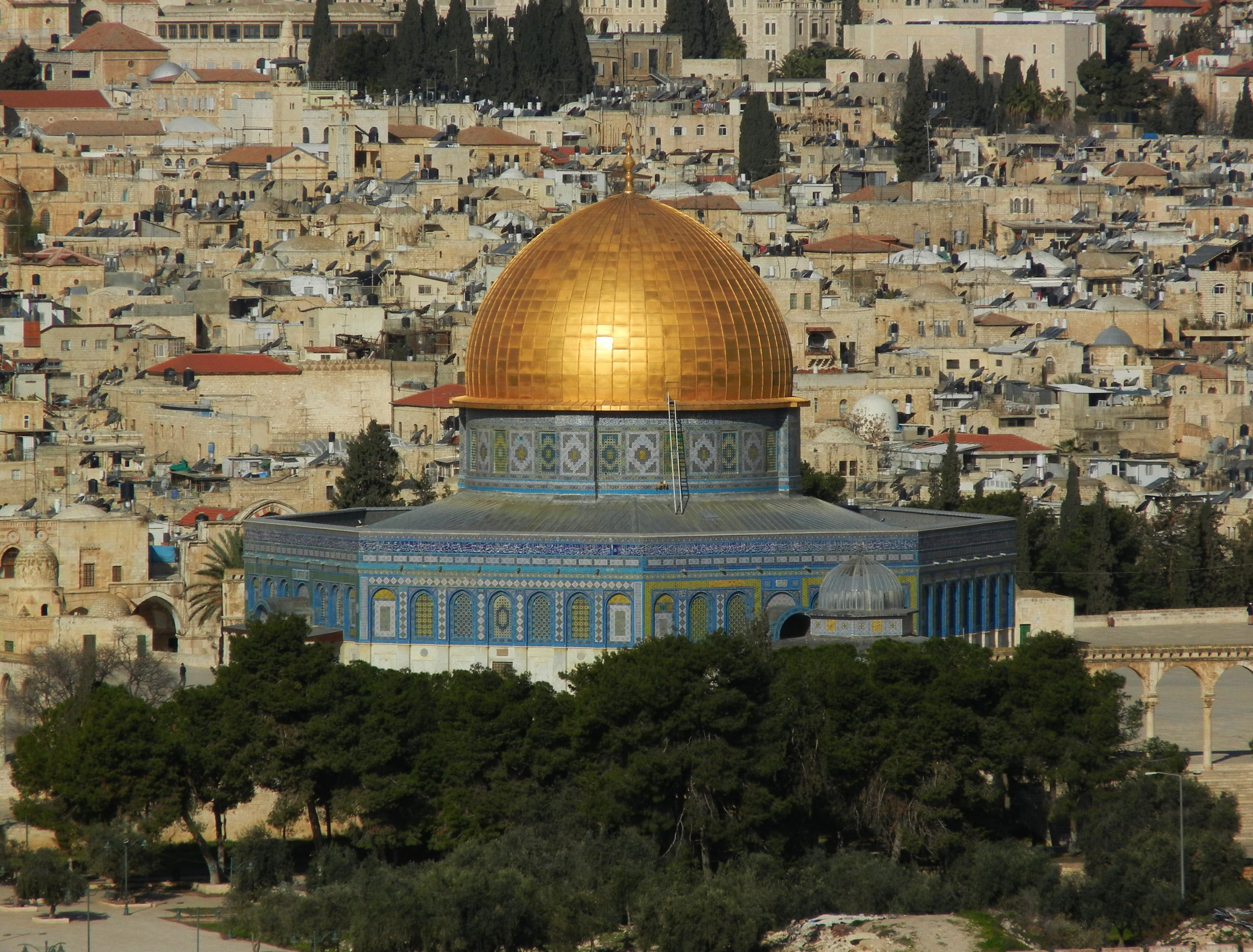Dome Of The Rock Temple Mount And Haram Esh Sharif Hd Wallpaper