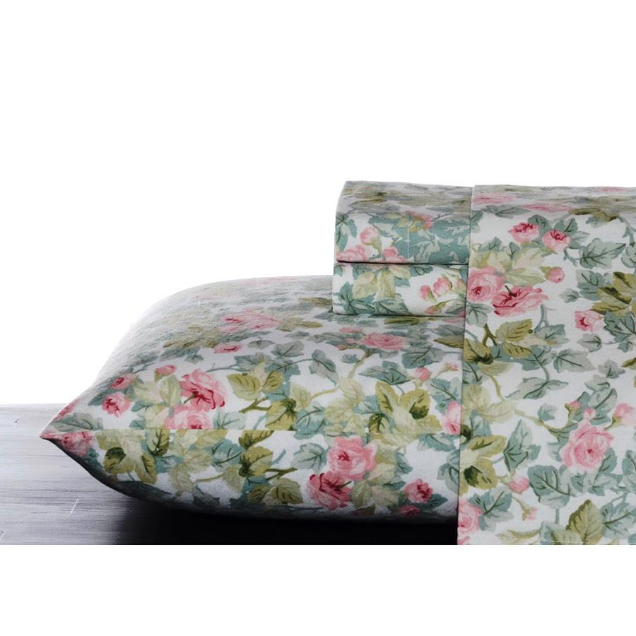 Laura Ashley Flannel Queen Sheet Set: Trendoffice: Spring Freshness