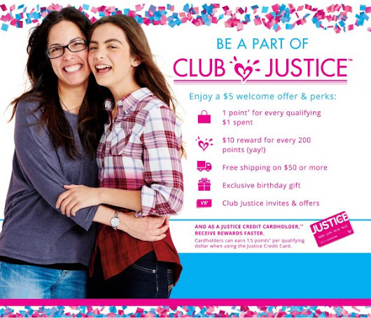 #sponsored Introducing the New Club Justice Loyalty Program #LiveJustice - Mommies with Cents