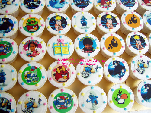 Birthday Cupcakes with Edible Image