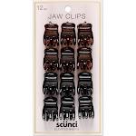 Conair Scunci 2cm Small 3-Prong Jaw Clips - 12pk, Black
