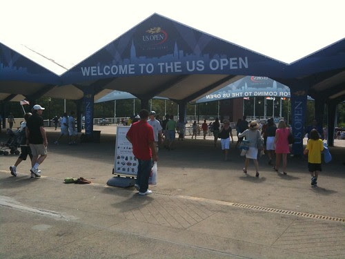 Welcome gate, US Open
