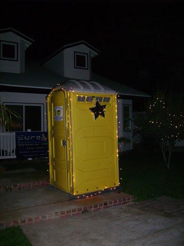 Our Neighbors outhouse while remodeling 2009
