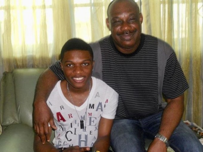 Don Jazzy's Father Shares Throwback Pix With Wizkid To Celebrate Him On His Birthday