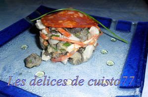 Tartare de bar gastéropode espagnol