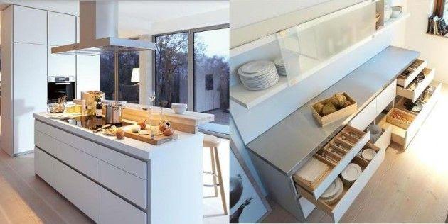 Diseños de Cocinas Blancas 4 Atractivos Diseños de Cocinas Blancas