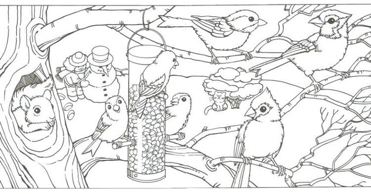 Coloring Pages Of Winter Animals
