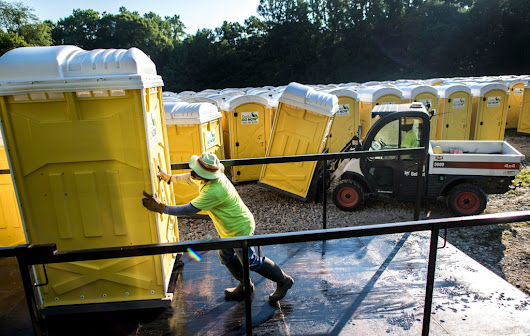 Washington's portable toilet industry is flush, thanks to Trump