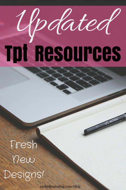 Updated Tpt Resources - Rachel K Tutoring Blog