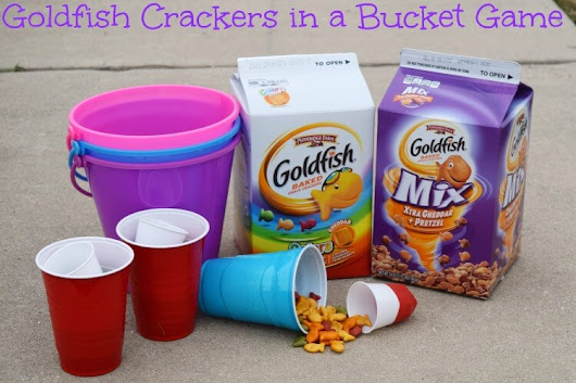 Goldfish Game Time - Goldfish Crackers in a Bucket | The TipToe Fairy