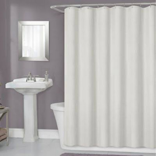 Titan 70 X 72 Waterproof Fabric Shower Curtain Liner In Ivory