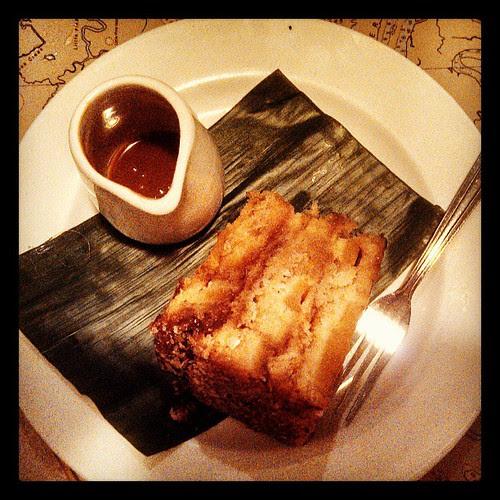 Mmmmm.... #pineapple upside down #cake with #rum sauce #delish #yumo #joescrabshack #eatatjoes