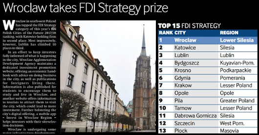 Financial Times Award Wroclaw Poland's FDI Strategy Prize