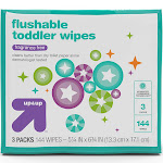 Toddler Unscented Wipes Flushable - 144ct - Up&Up