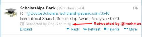 Ong Kian Ming (imokman) on Twitter