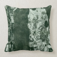 Death and Life (Former State) by Gustav Klimt throwpillow