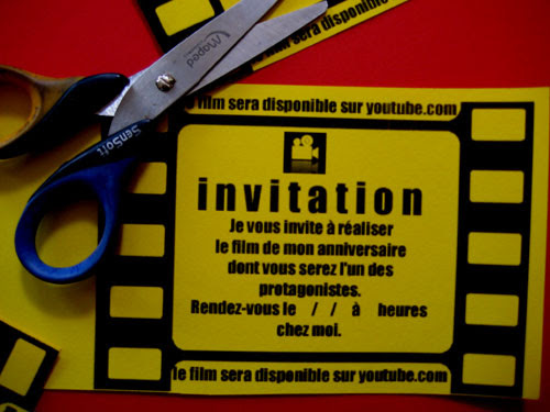 carte d invitation anniversaire theme