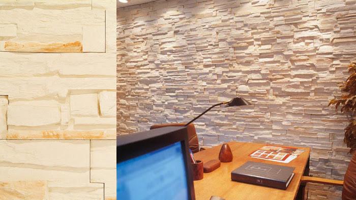Dormitorio muebles modernos plaquetas imitacion piedra for Piedra decorativa interior