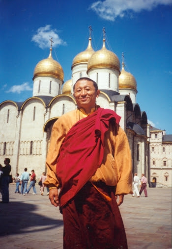 Lama Chokyi Nyima Rinpoche in Moscow. From Andrey Terentyev.