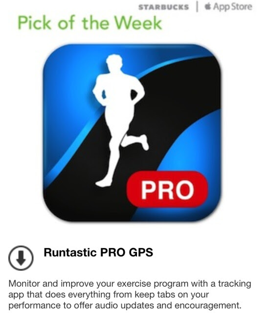 Starbucks iTunes Pick of the Week - Runtastic PRO GPS