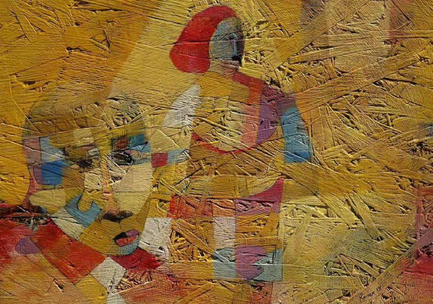 Les œuvres de l'artiste dans son atelier de la maison pendant une longue période et de nouvelles voient le bon