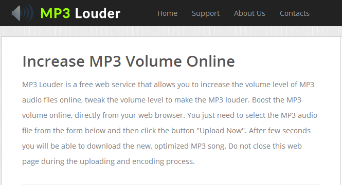 Mp3Louder Homepage
