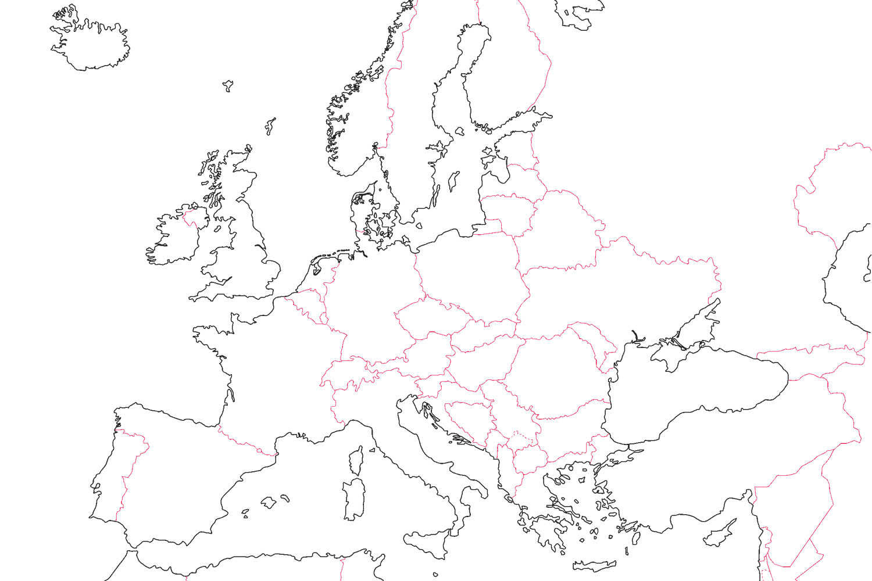 25 Geweldig Blinde Kaart West Europa