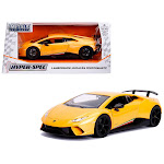 Jada Toys 99707 1 isto 24 Lamborghini Huracan Perfomante Diecast Model Car Metallic Yellow