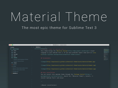 Material Theme for Sublime Text 3