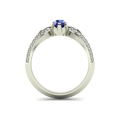 Pagoda Ladies Wishbone Engagement Ring with Pear Cut