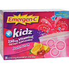 Alacer Emergen-C Kidz Vitamin C Drink Mix, 250 mg, Fruit Punch - 30 count, 0.33 oz packets