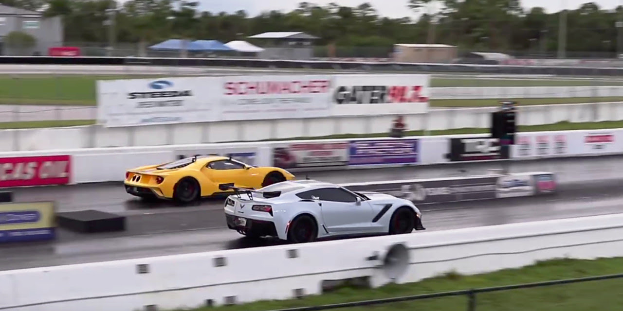 Watch 2019 Corvette Zr1 Drag Races A Ford Gt Gm Authority