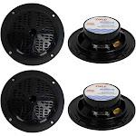 """Pyle PLMR41B Speaker - Pair - 4"""" - Black"""