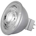 Satco S8642 8 watt LED MR16 3500K 40' beam spread GU5.3 base 12 volts