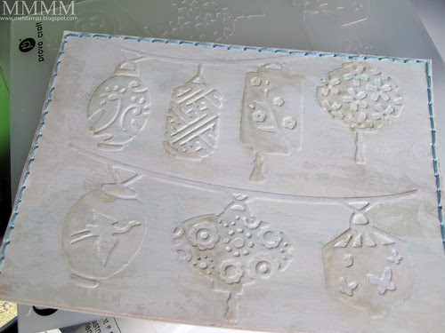 1b Cuttlebug folder acrylic paint & ink wash mel stampz