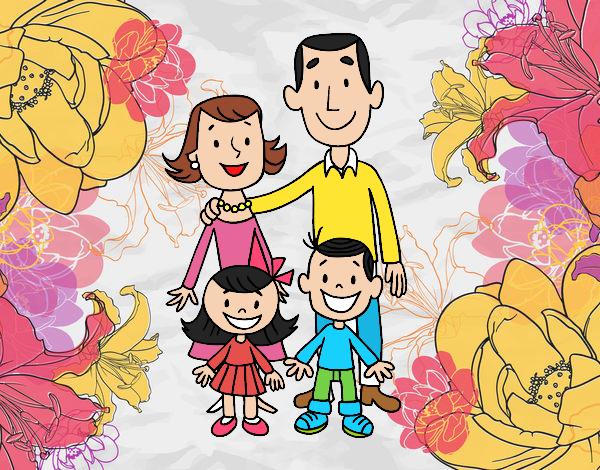 Dibujo De Una Familia Pintado Por Dannasol En Dibujosnet El Día 04