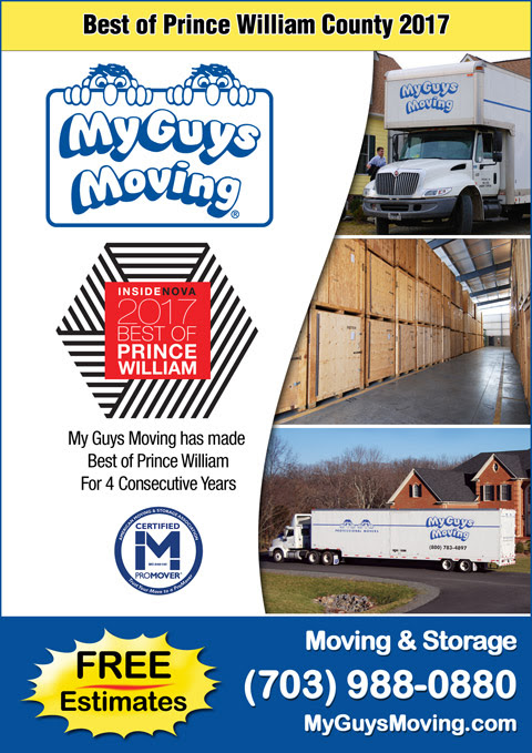 Moving Service: Best of Prince William County 2017 | My Guys Moving & Storage