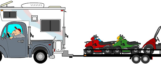 Using a Trailer from an Equipment Rentals Company for ATV Transport