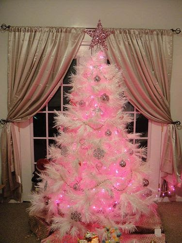 Christmas Decor Styles A White Christmas Tree With Pink